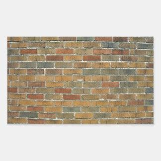 Textura de la pared de ladrillo mezclada del color rectangular altavoz