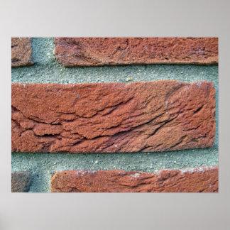 Textura de la pared de ladrillo impresiones