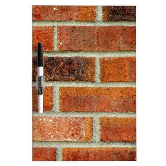 Textura de la pared de ladrillo tablero blanco
