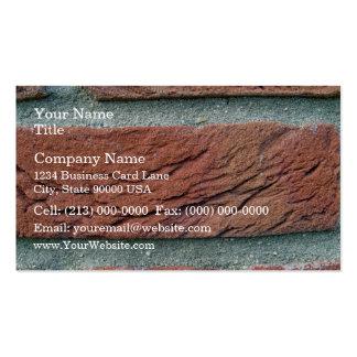 Textura de la pared de ladrillo tarjeta de visita