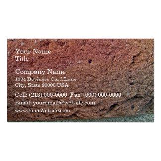 Textura de la pared de ladrillo plantilla de tarjeta de negocio