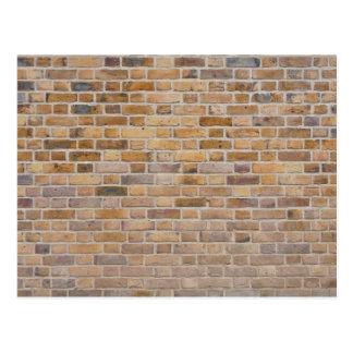 Textura de la pared de ladrillo postales