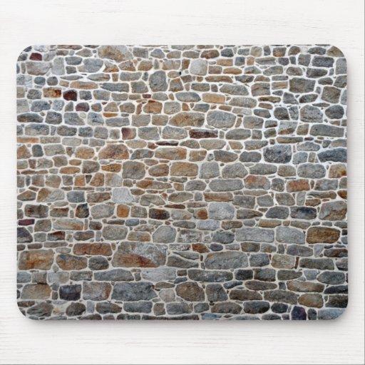 Textura de la pared de piedra, decoración de piedr tapete de raton