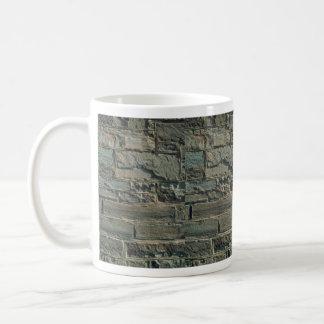 Textura de la pared de piedra taza de café