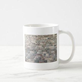 Textura de la pared de piedra tazas