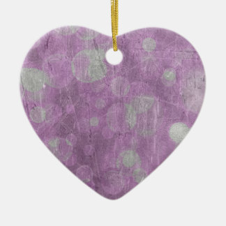 Textura de la pared (efectos rosados y blancos) adorno de cerámica en forma de corazón