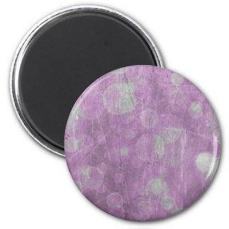 Textura de la pared (efectos rosados y blancos) imán redondo 5 cm