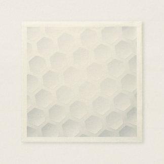 Textura de la pelota de golf servilletas de papel