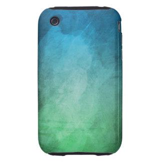 Textura de la pendiente del verde azul tough iPhone 3 fundas