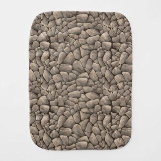 Textura de la piedra del dibujo animado paños para bebé