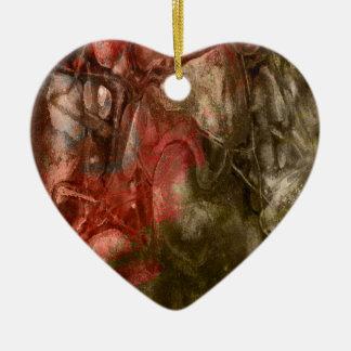 Textura de la piedra del rojo de Brown Ornamento De Navidad