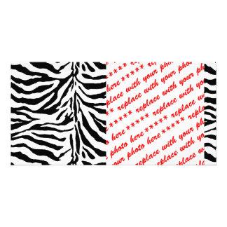 Textura de la piel de la cebra (añada/el color de tarjeta fotografica