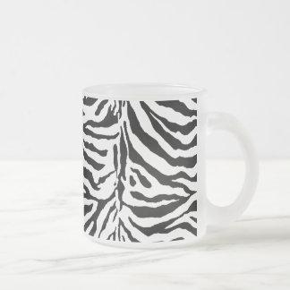 Textura de la piel de la cebra (añada/el color de taza de café esmerilada
