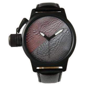 Textura de la piel de serpiente relojes