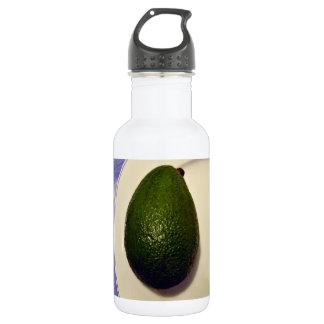 Textura de la piel del aguacate botella de agua de acero inoxidable