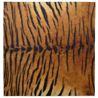 Textura de la piel del estampado de animales del servilleta imprimida