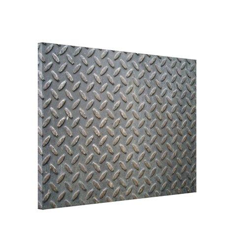 Textura de la pisada del metal lona envuelta para galerias