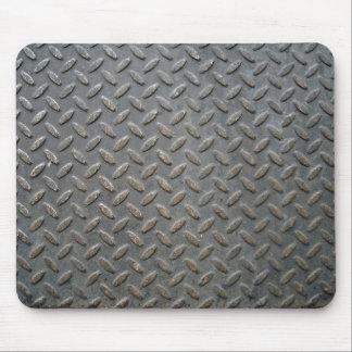 Textura de la pisada del metal tapete de raton