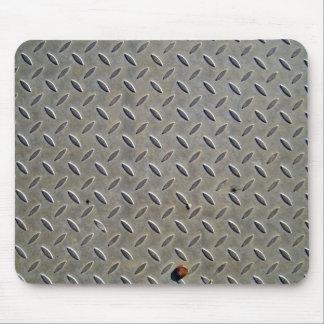 Textura de la pisada del metal alfombrilla de ratones
