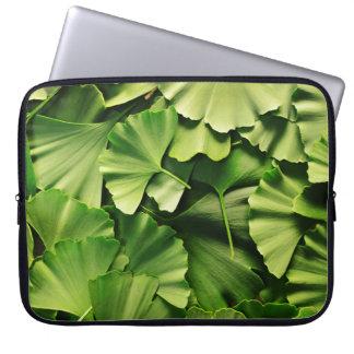 textura de la planta de la naturaleza de la hoja mangas portátiles