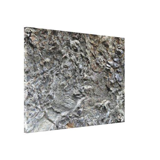 Textura de la roca del desierto lienzo envuelto para galerías