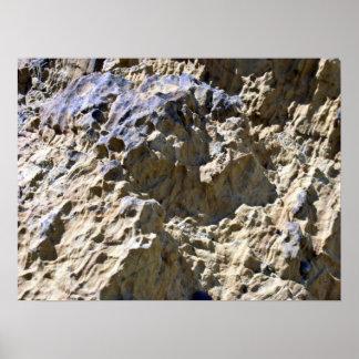 Textura de la roca del desierto posters