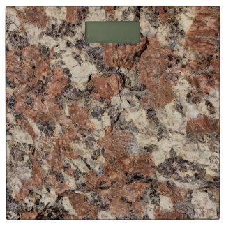 Textura de la roca del granito --- Blanco negro Báscula