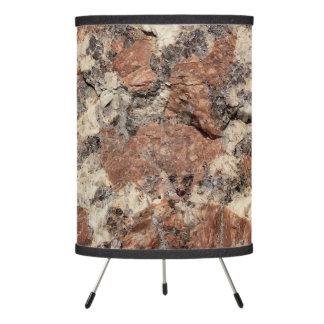 Textura de la roca del granito --- Blanco negro Lámpara Trípode