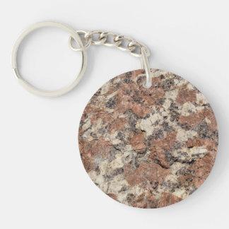 Textura de la roca del granito --- Blanco negro Llavero Redondo Acrílico A Doble Cara