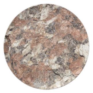 Textura de la roca del granito --- Blanco negro Plato