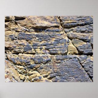 Textura de la roca poster