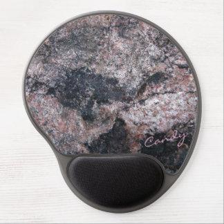 Textura de la roca rosácea con el caramelo alfombrillas con gel