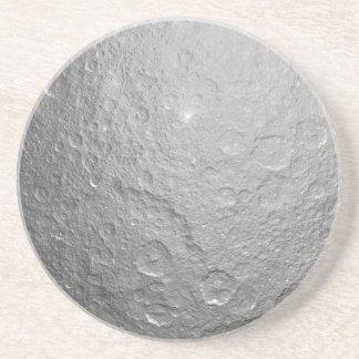 Textura de la superficie de la luna posavasos cerveza