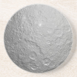 Textura de la superficie de la luna posavasos para bebidas