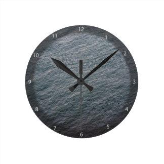 Textura de la superficie del mar reloj