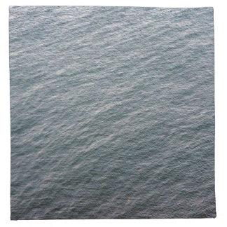 Textura de la superficie del mar servilleta de papel