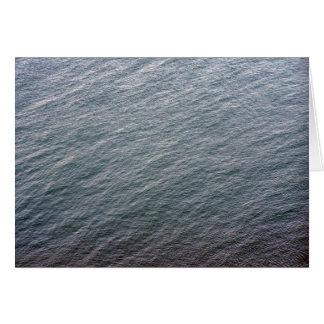 Textura de la superficie del mar felicitacion
