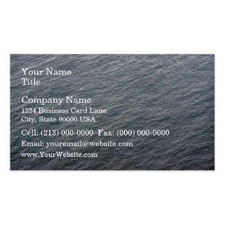 Textura de la superficie del mar plantilla de tarjeta personal