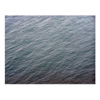 Textura de la superficie del mar tarjeta postal