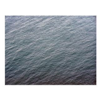 Textura de la superficie del mar postal