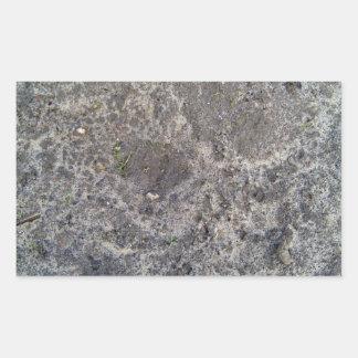 Textura de la superficie mojada de la arena pegatina rectangular
