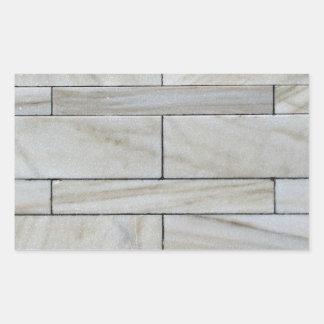 Textura de la teja apilada de la pared de piedra pegatina rectangular