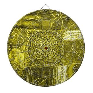 Textura de la tela del remiendo del verde amarillo