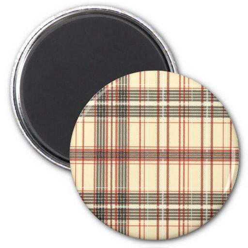 Textura de la tela del tartán imanes