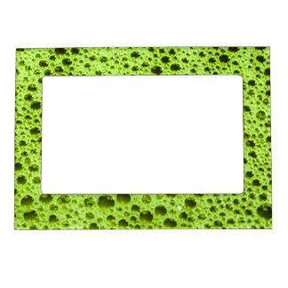 Textura de las burbujas de la verde lima marcos magneticos de fotos