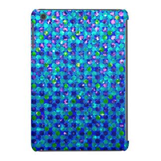 Textura de las joyas de la chispa del caso del funda para iPad mini
