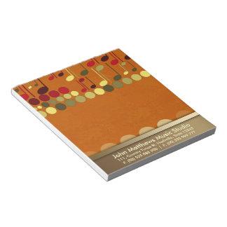 Textura de las notas musicales Personalizar-él lib Libreta Para Notas
