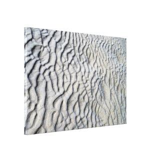 Textura de las ondas de arena lienzo envuelto para galerías