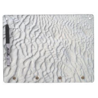 Textura de las ondas de arena pizarras blancas