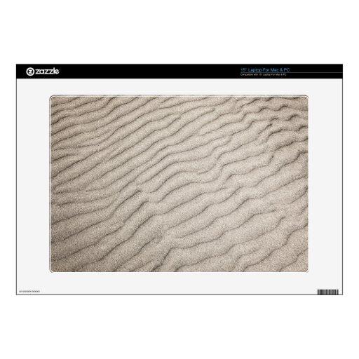 Textura de las ondulaciones de la arena portátil calcomanía